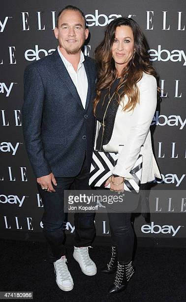 Singer Alanis Morissette and Mario Treadway arrive at the 6th Annual ELLE Women In Music Celebration Presented by eBay at Boulevard3 on May 20 2015...
