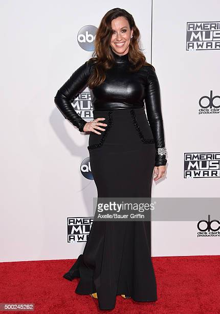 Singer Alanis Morissette arrives at the 2015 American Music Awards at Microsoft Theater on November 22 2015 in Los Angeles California