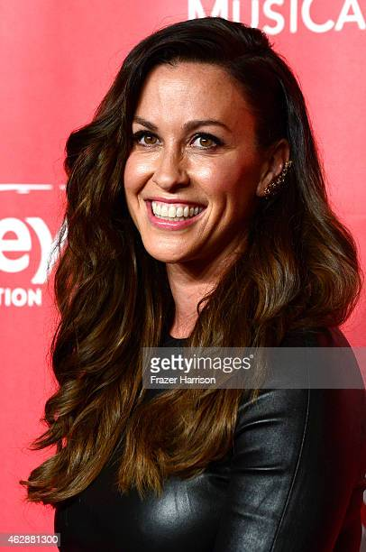 Singer Alanis Morissette attends the 25th anniversary MusiCares 2015 Person Of The Year Gala honoring Bob Dylan at the Los Angeles Convention Center...