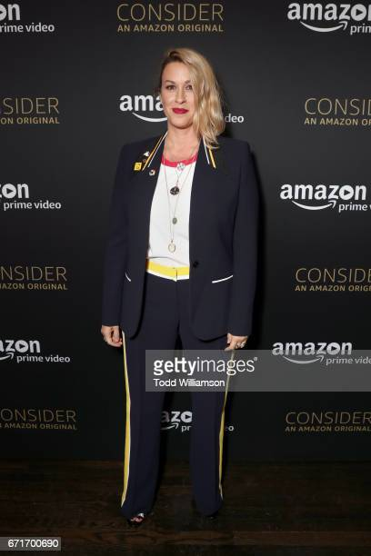 Singer Alanis Morissette attends the Amazon Studios Emmy For Your Consideration Event at Hollywood Athletic Club on April 22 2017 in Hollywood...
