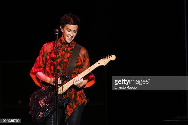 Singer Alanis Morissette performs on stage at Auditorium Parco Della Musica on July 9 2018 in Rome Italy