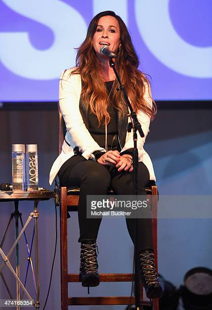 Singer Alanis Morissette performs on stage at the 6th annual ELLE Women In Music celebration presented By eBay Hosted by Robbie Myers with...