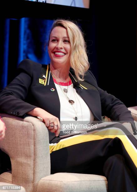 Singer Alanis Morissette speaks onstage during the Amazon Studios Emmy For Your Consideration Event at Hollywood Athletic Club on April 22 2017 in...