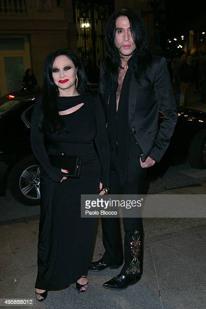 Singer Alaska and husband Mario Vaquerizo are seen arriving to GQ Men of The Year awards at Palace Hotel on November 5 2015 in Madrid Spain