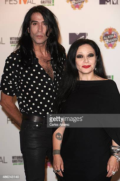 Singer Alaska and husband Mario Vaquerizo attend Alaska y Mario Tv show new season during the 7th FesTVal Television Festival 2015 at the...