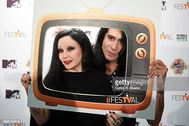 Singer Alaska and husband Mario Vaquerizo attend 'Alaska y Mario' Tv show new season during the 7th FesTVal Television Festival 2015 at the...
