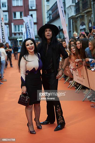 Singer Alaska and husband Mario Vaquerizo attend 'Alaska y Mario' Tv show new season premiere during the 7th FesTVal Television Festival 2015 at the...