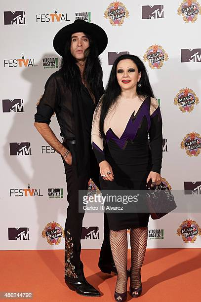 Singer Alaska and husband Mario Vaquerizo attend Alaska y Mario Tv show new season premiere during the 7th FesTVal Television Festival 2015 at the...