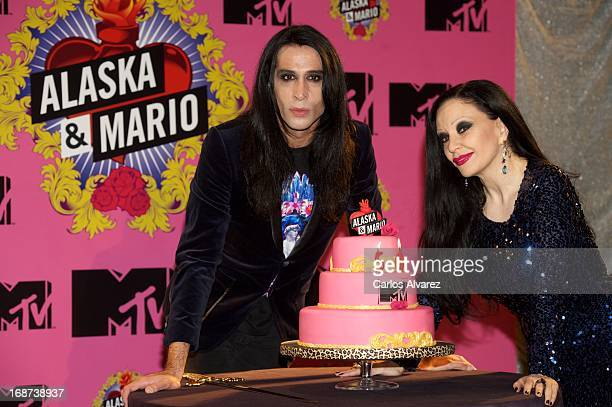 Singer Alaska and husband Mario Vaquerizo present 'Alaska Mario' new MTV season at Florida Park club on May 14 2013 in Madrid Spain