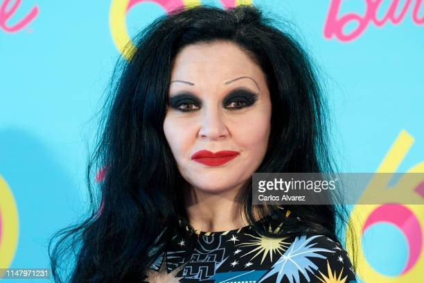 Singer Alaska attends a photocall to celebrate the 60th anniversary of Barbie at Allard Club on May 09 2019 in Madrid Spain