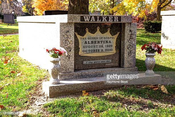 Singer Albertina Walker's grave sits at Oak Woods Cemetery in Chicago Illinois on OCTOBER 28 2011