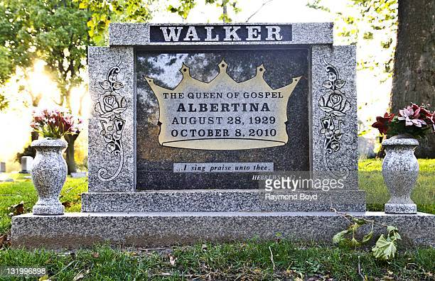 Singer Albertina Walker's grave sits at Oak Woods Cemetery in Chicago Illinois on OCTOBER 22 2011