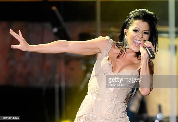 Singer Alejandra Guzman onstage during the 2011 Latin Recording Academy's Person of the Year honoring Shakira at Mandalay Bay Resort & Casino on...