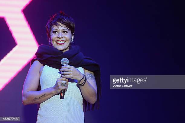 Singer Alejandra Guzman performs a showcase to promote her new album 'A No Poder' at Foro Insurgentes on September 18 2015 in Mexico City Mexico