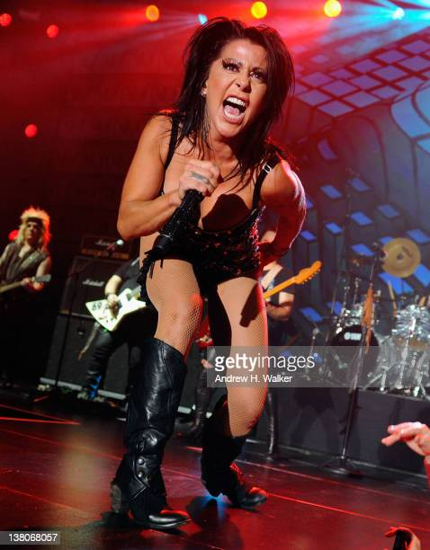 Singer Alejandra Guzman performs at the 2012 Univision Pepsi Musica Super Bowl Fan Jam at the Indiana Convention Center on February 1 2012 in...
