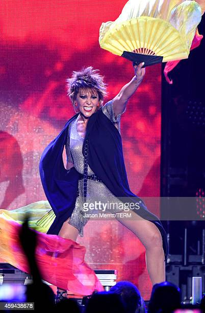 Singer Alejandra Guzman performs onstage during the iHeartRadio Fiesta Latina festival presented by Sprint at The Forum on November 22, 2014 in...