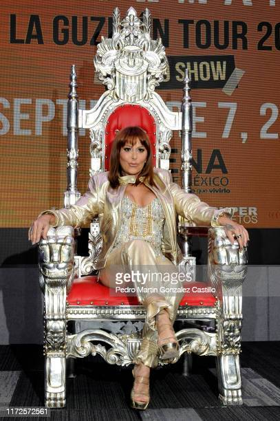 Singer Alejandra Guzman presents her new Album 'Live at the Roxy' at Universal Music on September 5, 2019 in Mexico City, Mexico.