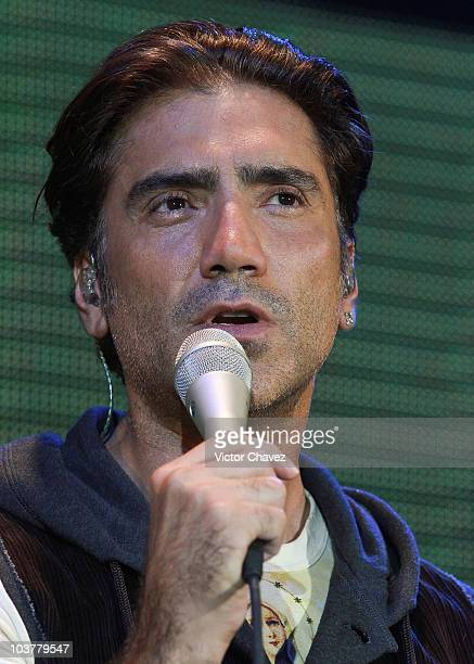Singer Alejandro Fernandez performs during the GRAMMY artists revealed with Alejandro Fernández presented by MasterCard concert at Lunario del...