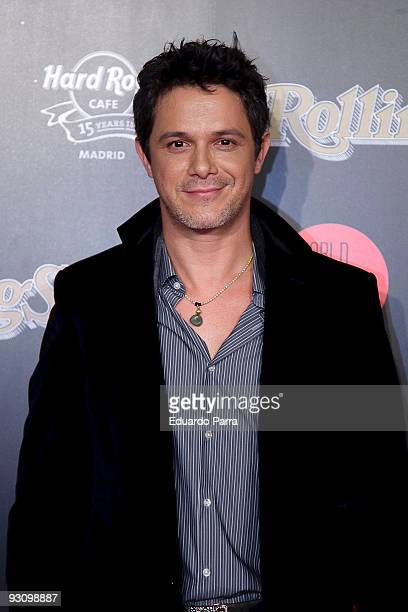 Singer Alejandro Sanz attends the 2009 Rolling Stone Awards at Hard Rock Cafe on November 16 2009 in Madrid Spain