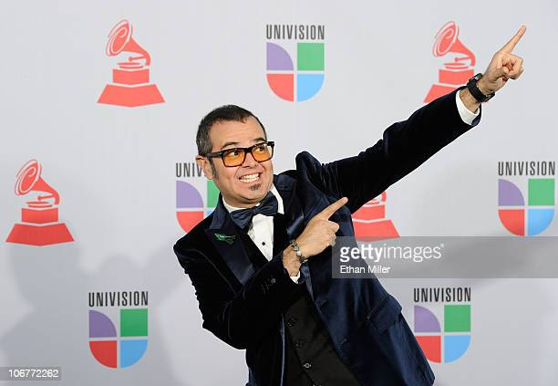 Singer Aleks Syntek arrives at the 11th annual Latin GRAMMY Awards at the Mandalay Bay Resort Casino on November 11 2010 in Las Vegas Nevada