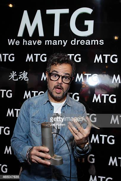 Singer Aleks Syntek attends the GRAMMY Gift Lounge during the 56th Grammy Awards at Staples Center on January 25 2014 in Los Angeles California