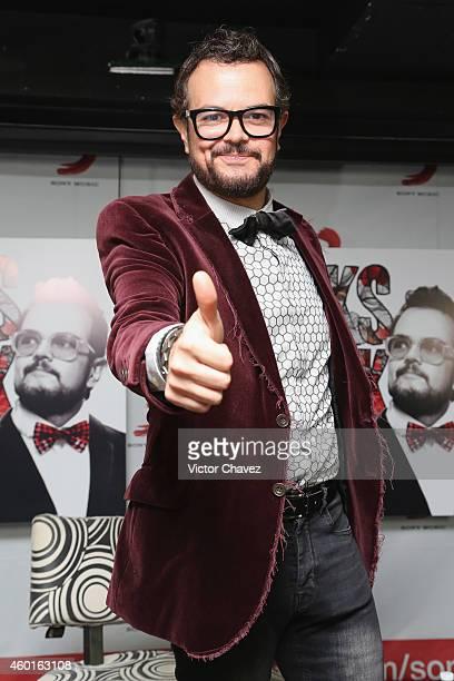 Singer Aleks Syntek launches his new album Romántico Desliz Edición Especial at Sony Music on December 8 2014 in Mexico City Mexico