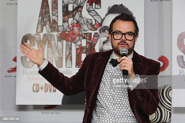 Singer Aleks Syntek launches his new album Romántico Desliz Edición Especial at Sony Music on December 8 2014 in Mexico City Mexico