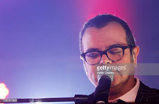 Singer Aleks Syntek performs during the Latin GRAMMY Nominee Celebration at Ragga Plaza Antara on October 4 2011 in Mexico City Mexico