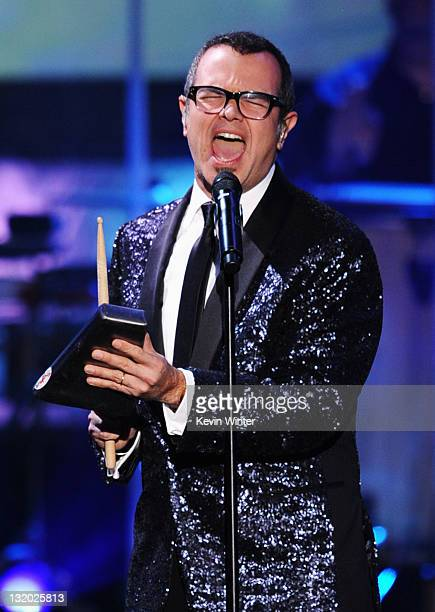 Singer Aleks Syntek performs onstage at the 2011 Latin Recording Academy Person Of The Year Honoring Shakira held at the Mandalay Bay Resort Casino...