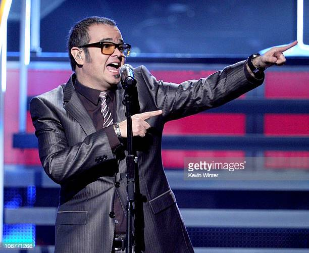 Singer Aleks Syntek performs onstage during the 11th annual Latin GRAMMY Awards at the Mandalay Bay Events Center on November 11 2010 in Las Vegas...