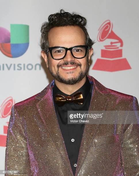 Singer Aleks Syntek poses in the press room during The 14th Annual Latin GRAMMY Awards at the Mandalay Bay Events Center on November 21 2013 in Las...