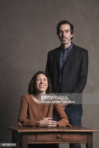Singer Alela Diane is photographed with guitarist guitarist Ryan Francesconi for Paris Match on October 14 2015 in Paris France