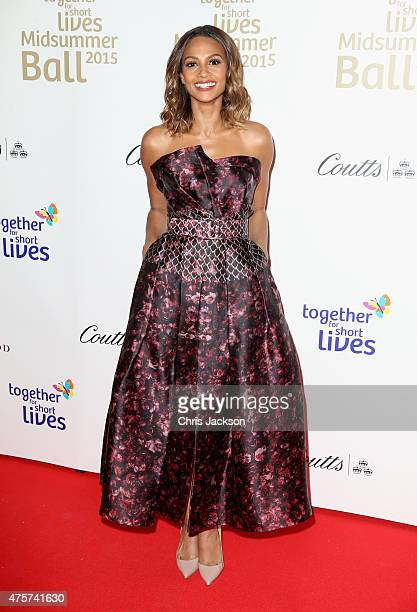 Singer Alesha Dixon arrives for the Together for Short Lives Midsummer Ball at Banqueting House on June 3 2015 in London England