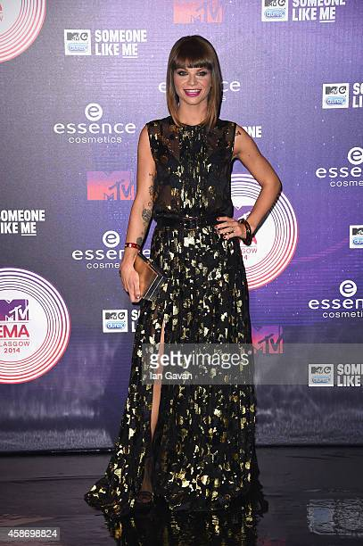 Singer Alessandra Amoroso attends the MTV EMA's 2014 at The Hydro on November 9 2014 in Glasgow Scotland