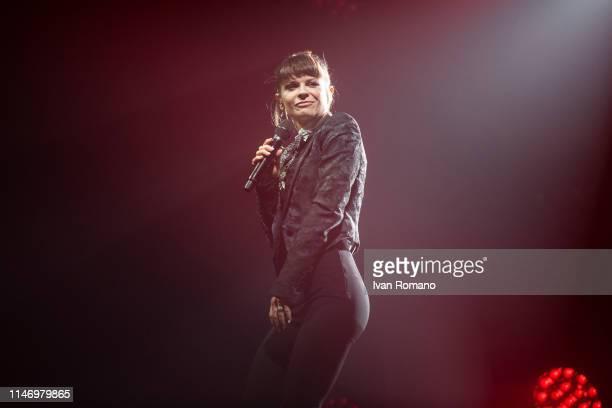 Singer Alessandra Amoroso performs onstage at PalaSele Eboli on May 4 2019 in Eboli Italy