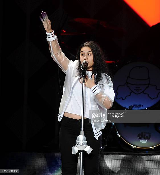 Singer Alessia Cara performs at 1027 KIIS FM's Jingle Ball 2016 at Staples Center on December 2 2016 in Los Angeles California