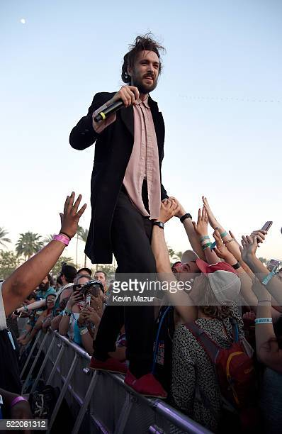 Singer Alex Ebert of Edward Sharpe and the Magnetic Zeros performs onstage during day 3 of the 2016 Coachella Valley Music And Arts Festival Weekend...