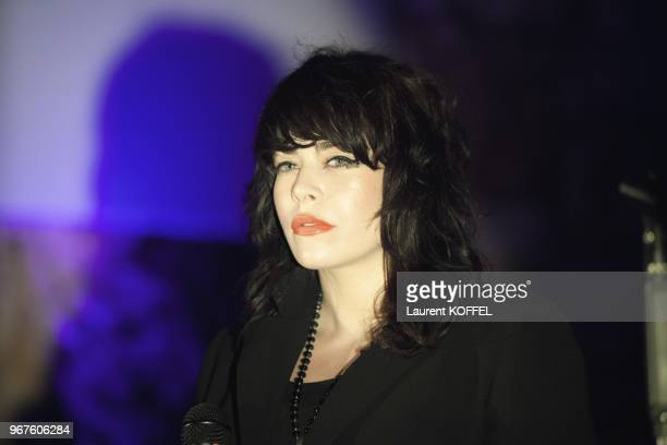 Singer Alex Hepburn performing live at 2013 inaugural LIFE Summit on May 14 2013 at the GrandHotel of CapFerrat France