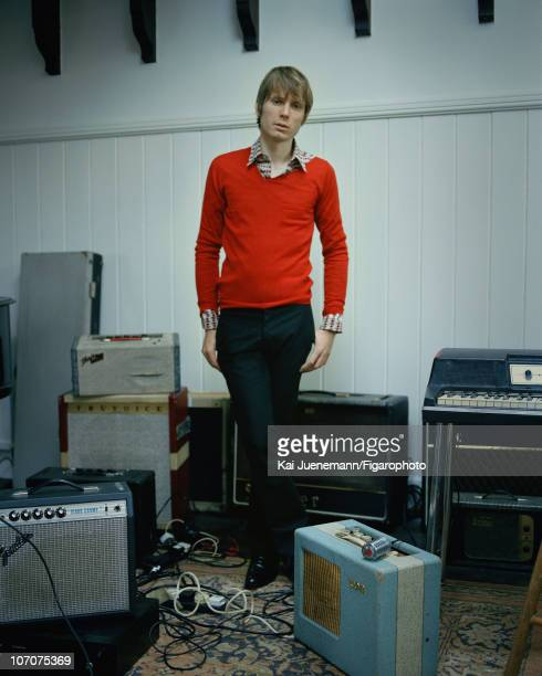Singer Alex Kapranos of Franz Ferdinand poses for Madame Figaro in Glasgow Scotland in 2006 Published image Figaro ID 069752002 Sweater by Dior Homme...