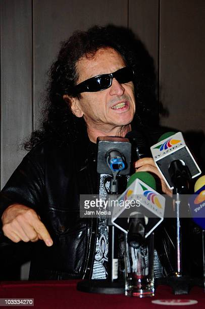 Singer Alex Lora grants a press conference with Chela Lora to speak about their daughter Celia who remains jailed after running over a man with her...
