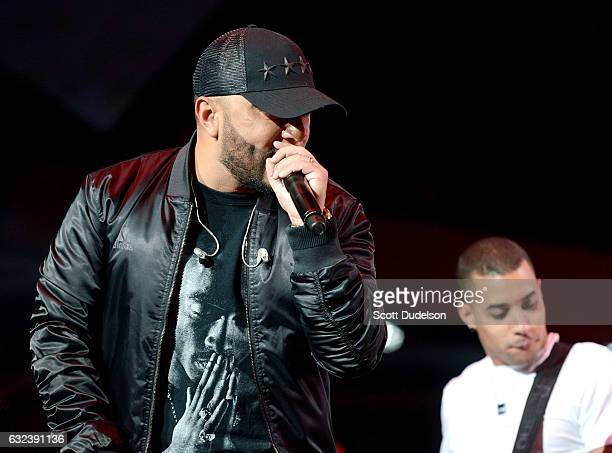 Singer Alex Sensation performs onstage during Calibash 2017 at Staples Center on January 21 2017 in Los Angeles California