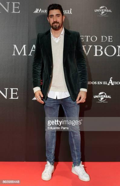 Singer Alex Ubago attends the 'El secreto de Marrowbone' photocall at Capitol cinema on October 24 2017 in Madrid Spain
