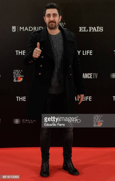 Singer Alex Ubago attends the 'The Best Day of My Life' premiere at Callao cinema on March 13 2018 in Madrid Spain