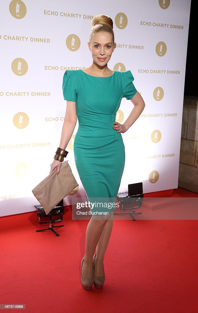 Singer Alexa Feser attends the Echo Award 2015 Charity Dinner at Grill Royal on March 25, 2015 in Berlin, Germany.