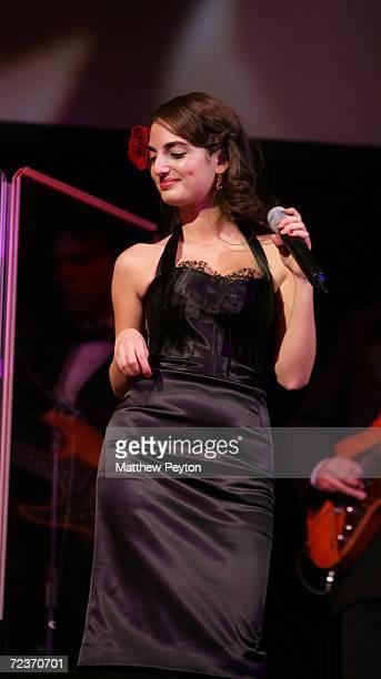 Singer Alexa Ray Joel performs at the 2006 Princess Grace FoundationUSA Awards Gala at Cipriani 42nd Street November 2 2006 in New York City