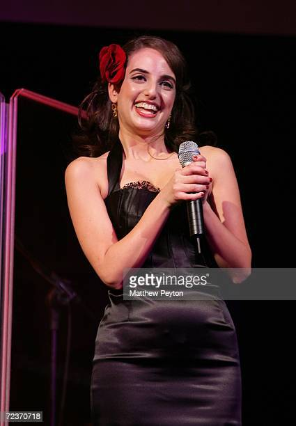 Singer Alexa Ray Joel performs at the 2006 Princess Grace FoundationUSA Awards Gala at Cipriani 42nd Street November 2 2006 in New York City