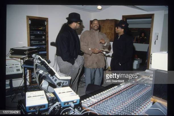 Singer Alexander O'Neal during a recording session with Jimmy Jam and Terry Lewis in Minneapolis, Minnesota in 1988.