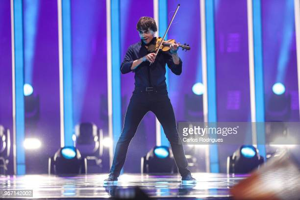 Singer Alexander Rybak of Norway during the second semi final of Eurovision Song Contest 2018 in Altice Arena on May 10 2018 in Lisbon Portugal