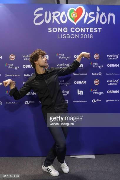 Singer Alexander Rybak of Norway during winners press conference of the second semi final of Eurovision Song Contest 2018 in Altice Arena on May 10...