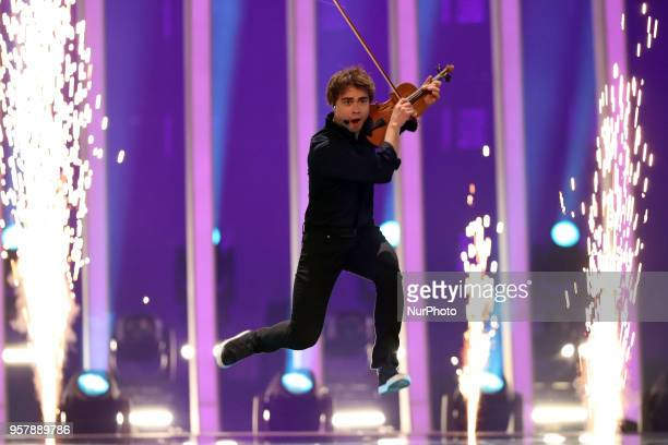 Singer Alexander Rybak of Norway performs during the 2018 Eurovision Song Contest Grand Final at the Altice Arena in Lisbon Portugal on May 12 2018